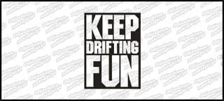 Keep Drifting Fun Biała 10cm