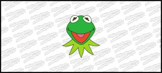 Kermit Head Color 10cm