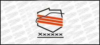 Klubseata.pl logo Biało czerwona 10cm
