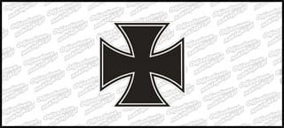 Krzyż A Biało Czarny 5cm