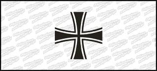 Krzyż B BW 10cm biała