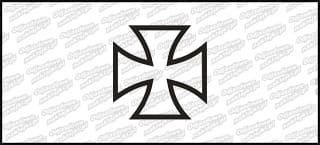 Krzyż C 5cm Biała