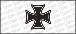Krzyż D BW 5cm biała