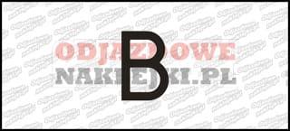Litera B Odblaskowa