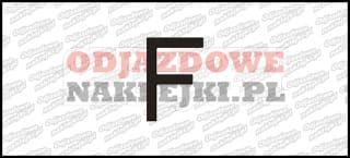 Litera F Odblaskowa