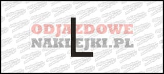 Litera L Odblaskowa