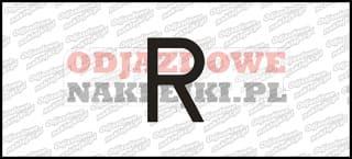 Litera R Odblaskowa