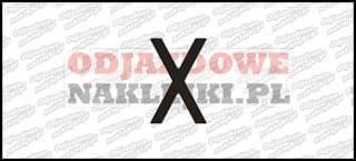 Litera X Odblaskowa
