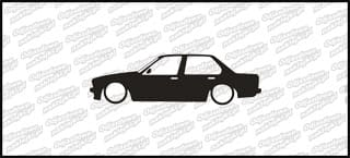 Low BMW E30 sedan 15cm