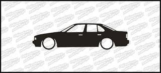 Low BMW E34 sedan 15cm