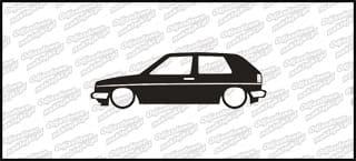 Low VW Golf mk2 3d 15cm