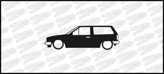 Low VW Polo mk2 kombi 15cm