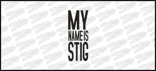 My Name Is STIG 10cm