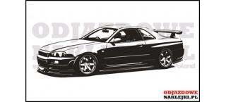 Nissan GT-R Skyline  R34 100cm czarny mat