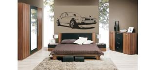Nissan Skyline 2000Gt 100cm na ścianę czarny mat