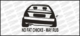 No fat chicks will rub VW Golf MK2 10cm
