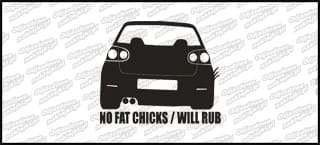 No fat chicks will rub VW Golf MK5 10cm