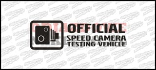 Official speed camera testing vehicle 15cm
