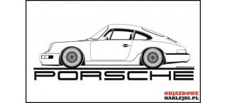 Porsche 911 Carrera 964 1990 na sciane 100cm czarny mat