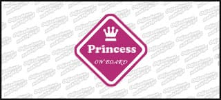 Princess on board 10cm