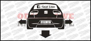 Seat Leon Klub Facebook 12cm
