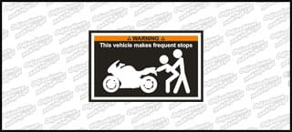 WARNING This vehicle makes fequent stops 10cm