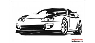 Toyota Supra Mk4 100cm czarny mat