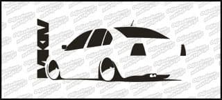 VW Bora MK4 15cm Biała naprasowanka