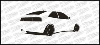 VW Corrado 15cm Czarna naprasowanka