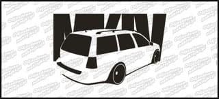 VW Bora Golf Variant 15cm Czarna naprasowanka