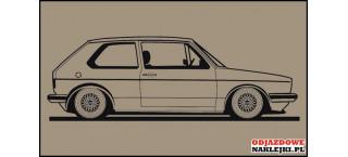 VW Golf MK1 GTI 140cm na ścianę czarny mat
