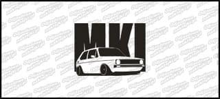 VW Golf MK1 15cm Biała naprasowanka