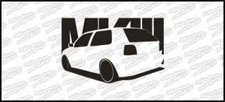 VW Golf MK3 15cm Biała naprasowanka