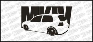 VW Golf MK4 15cm Czarna naprasowanka