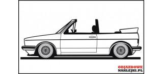 VW Golf MK1 Cabrio 140cm na ścianę czarny mat