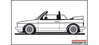 VW Golf MK1 Cabrio Szeroki Zderzak 140cm na ścianę czarny mat