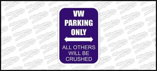 VW Parking Only 15cm Color