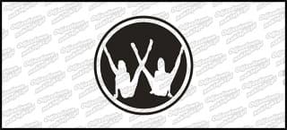 VW Girl Logo 10cm