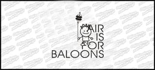 Air is for baloons B 15cm