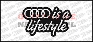 Audi is a lifestyle 15cm