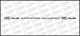 Audi Klub Polska Zestaw na Tablicę Biały