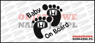 Baby on Board Honda 15cm