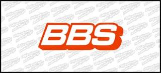 BBS na rant felgi 6cm Czerwono-Białe