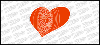 BBS Heart Biało Czerwona 10cm kolor