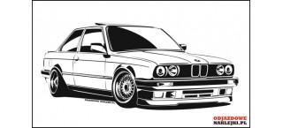 BMW e30 BBS RS 100cm czarny mat