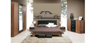BMW E30 A 150cm na ścianę czarny mat