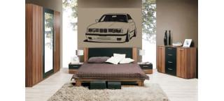 BMW 5er E34 100cm czarny mat