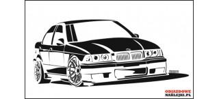 BMW E36 M3 Sedan 100cm czarny mat