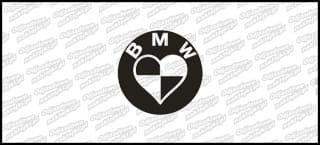 BMW Logo serce 10cm