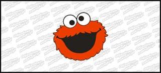 Cookie Monster 10cm czerwony